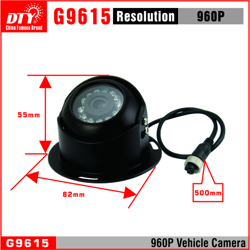 960p night vision infrared car camera, ahd analog camera