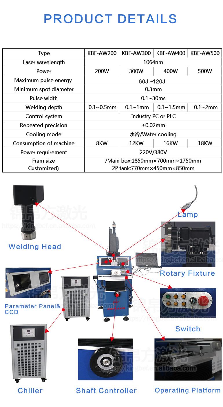 200w 300w 400w Laser Welder 3 Axis Automatic Yag Spot Precise Welding Diagram 2