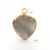 New Design Gray Natural Stone Glass Heart Pendant Jewelry Accessory