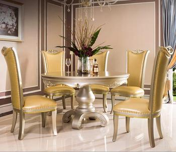 Bisini Luxury Gold Color Dining Table