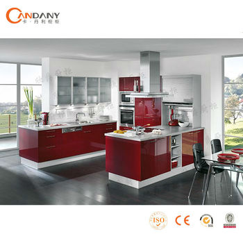 Latest New Design PVC Kitchen Cabinet, Modular Kitchen Cabinet Color  Combinations