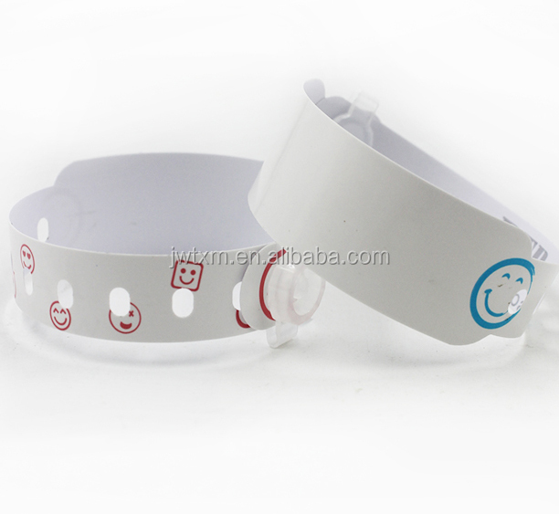 Waterproof medical infant id wristband, hospital id wristband