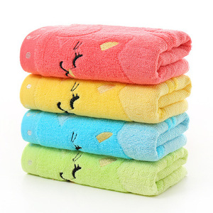 25*50cm children cat pattern hand bamboo towel