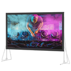 300'' Rear Portable Fast Fold Projection Screen Fabric outdoor projection screen