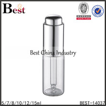 make up packaging small clear eye serum foundation glass dropper bottle with press pump dropper