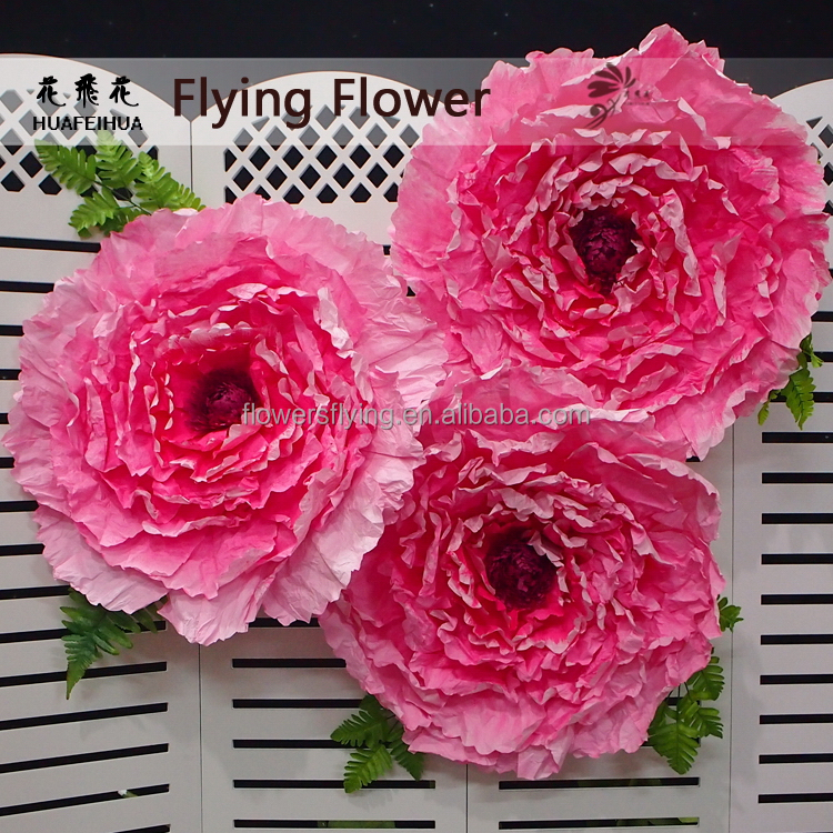 Shanghai manufactory professional wholesale paper peony artificial flower