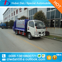 dongfeng 4*2 compressed rubbish truck 4 ton for sale
