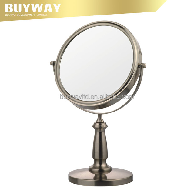 Decorative Double sided metal vanity makeup Gourd Standing magnifying mirrors