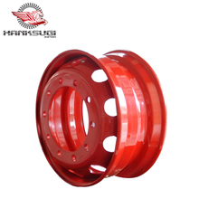 Camion ruota <span class=keywords><strong>rim</strong></span> 9.75x22.5 <span class=keywords><strong>tubeless</strong></span> cerchione in acciaio