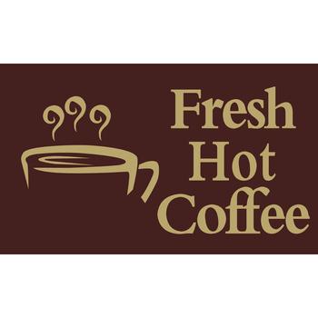 5 X 3 Fresh Hot Coffee Flag Car Boot Stall Burger Van Fast Food