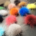 30 COLORS 100PCS 30MM mink fur ball Jewelry Findings handmade mink ball for shoes jewelry cloth