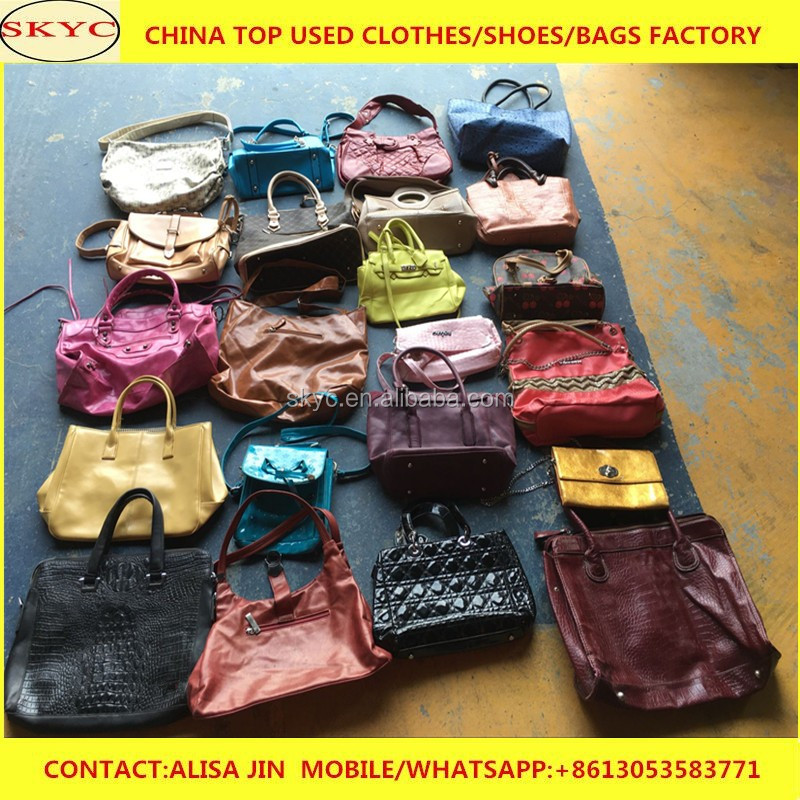 China export mixed used bags in bales cheap second hand clothes women used  handbags in bulk wholesale 10526f8b972aa