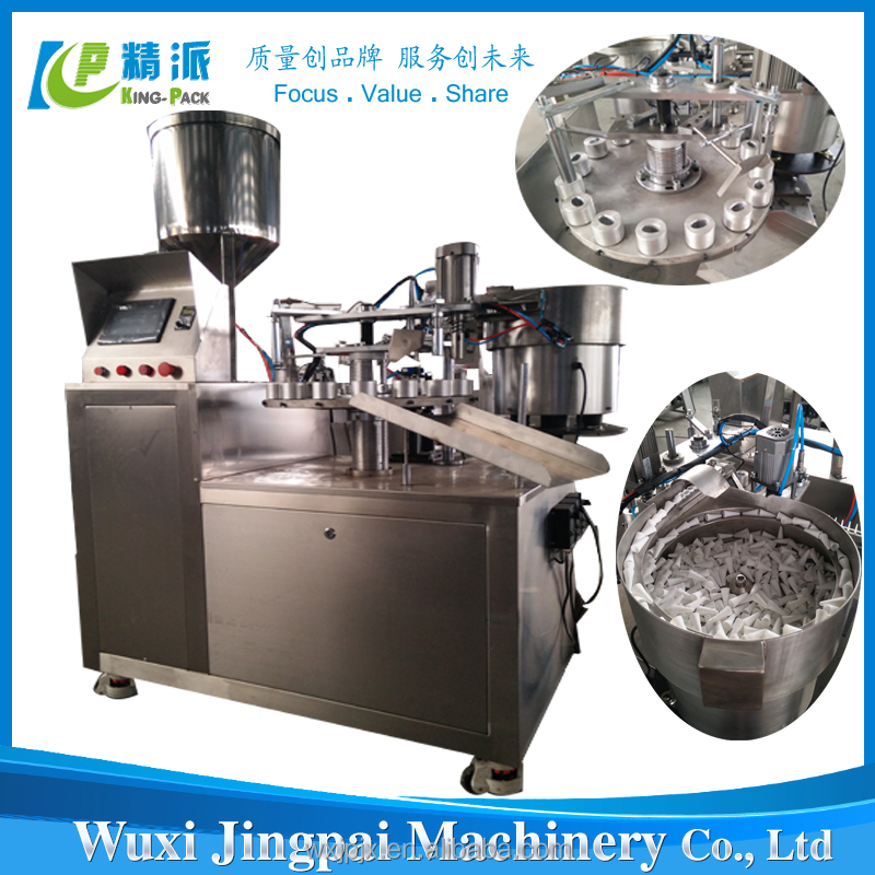 Excellent quality small bottle glue filling and capping machine
