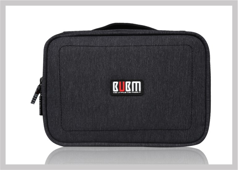 BUBM Nylon waterproof cable and gadget organizer case digital accessories storage bag for ipad and smartphone