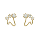 wholesale fancy design gold acrylic stud jewelry sets triangle earring supplies