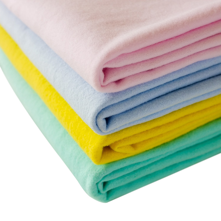 solid dyed cotton flannel fabric