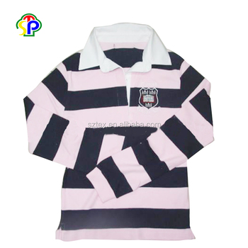 100% Cotton striped body Yarn-dyed rugby Polo Shirts for men wholesale china