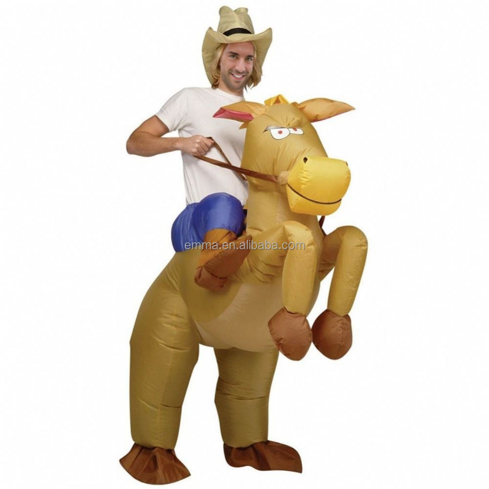 Inflatable Western Cowboy Cowgirl Horse Donkey Fancy Dress Stag Costume Outfit BMG17201