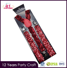 New Fashion 2016 Personalized Clip Custom Sequin Dress Suspenders For Women