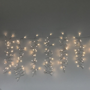 Fairy 300 LED Icicle Curtain Lights Rain Drop LED Falling Icicle Dripping String Lights for Christmas Home