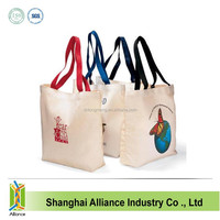 2015 Natural Cotton Canvas Tote Bag and Custom Tote Bag for shopping