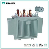 Copper winding electrical transformer 34.5kv 100KVA-3800KVA oil immersed high voltage power transformer with oil tank