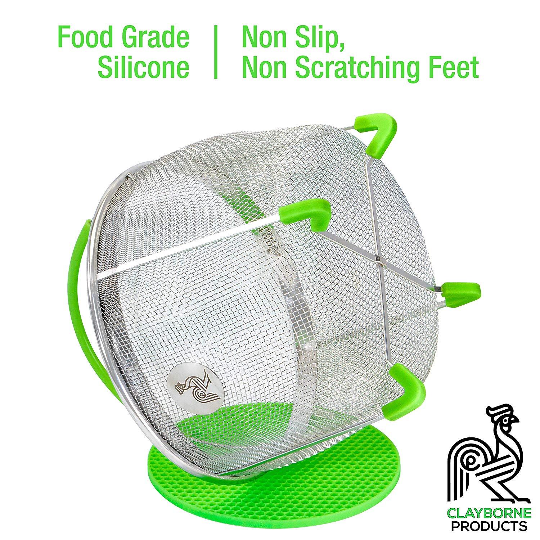 Instant Pot Accessories Insert 8 Quart vegetable Steamer Basket (3qt, 6qt, 8qt), Fits InstaPot Pressure Cooker, Insta Pot Ultra Duo Egg Basket, Stainless Metal Strainer Rack, Mesh, Veggie Accessory