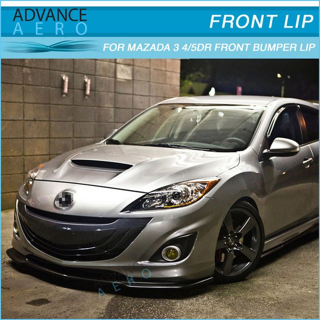 For Mazda 3 Poly Urethane Jdm Style Pu Auto Parts Car Accessories 2010 2011 Buy Front Bumper Lip For Mazda 3 10 11 Pu Front Bumper Lip Body