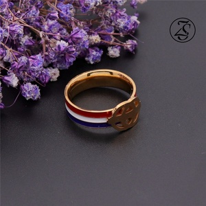 Multicolor Loop Minimalist Style Ring Gold Plated Stainless Steel Jewelry Bulk Sale Stainless Steel Ring Wholesale Jewelry