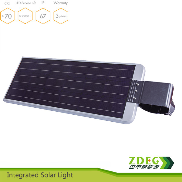 outdoor aluminum led 40w integrated solar street lamp using lithium battery best price