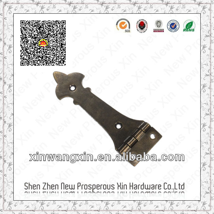 Furniture metal strap hinge