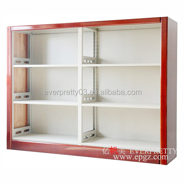 Hot Sales School Library Design Book Rack Steel Wooden BookShelf