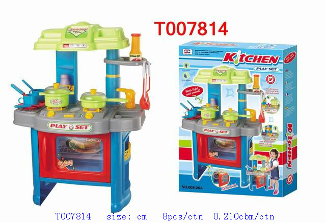 Panas penjualan plastik mainan set bermain kitchen set for Kitchen set anak