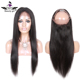 Hot sale buy human hair online 100% virgin brazilian hair 360 lace frontal closure