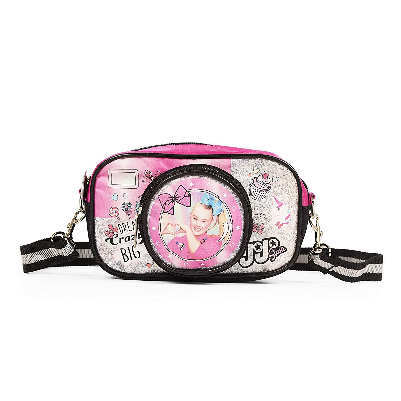 Nickelodeon JoJo Siwa Pink Camera Handbag with Strap for Girls