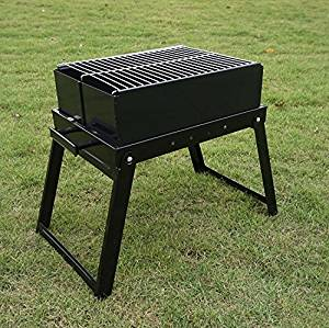 Get Quotations Large Thickened Stainless Steel Barbecue Pits Folding Outdoor Charcoal Bbq