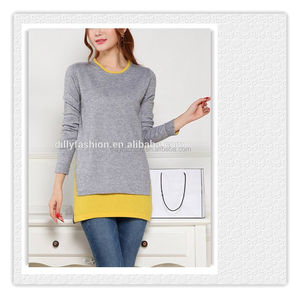 latest charm classic outwear fashion computer knitted twin set sweater design for lady