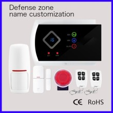 G10A GSM Touch Screen Wireless gsm alarm system/ burglar alarm