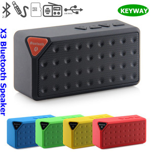 New Fashion TF Card Supported X3 Bluetooth Mini Wireless Speaker With Microphone Call