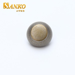 High quality gold color epoxy metal shank button for coat