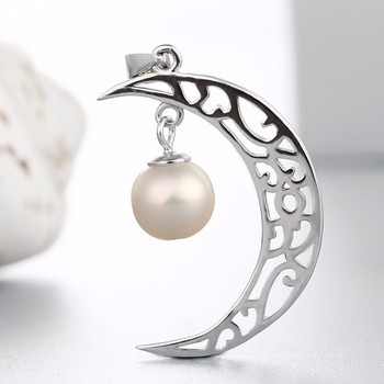 Hollow crescent moon pearl pendant designs jewelry mounting findings hollow crescent moon pearl pendant designs jewelry mounting findings mozeypictures Image collections