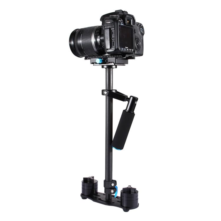 2018 innovative PULUZ 38.5-61cm Carbon Fiber Handheld Stabilizer for DSLR & DV Digital Video & Cameras