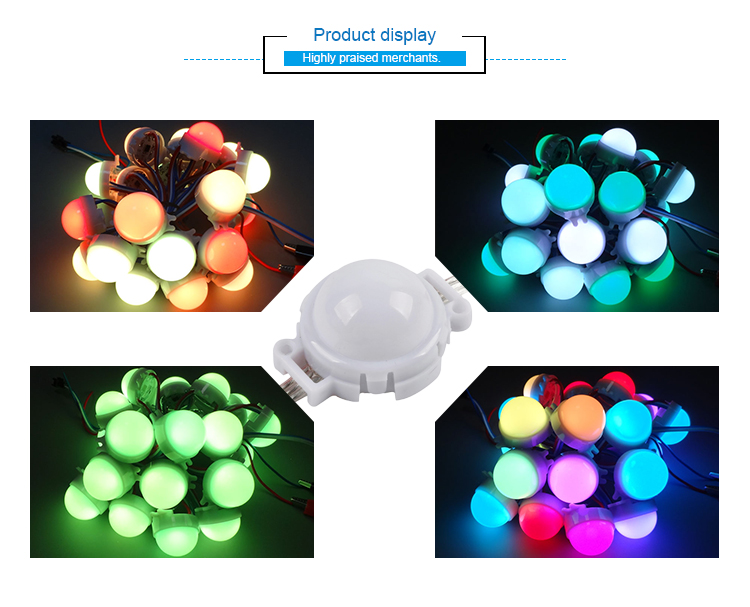 30mm 12V diameter video show dmx led rgb pixel dot digital led pixel light
