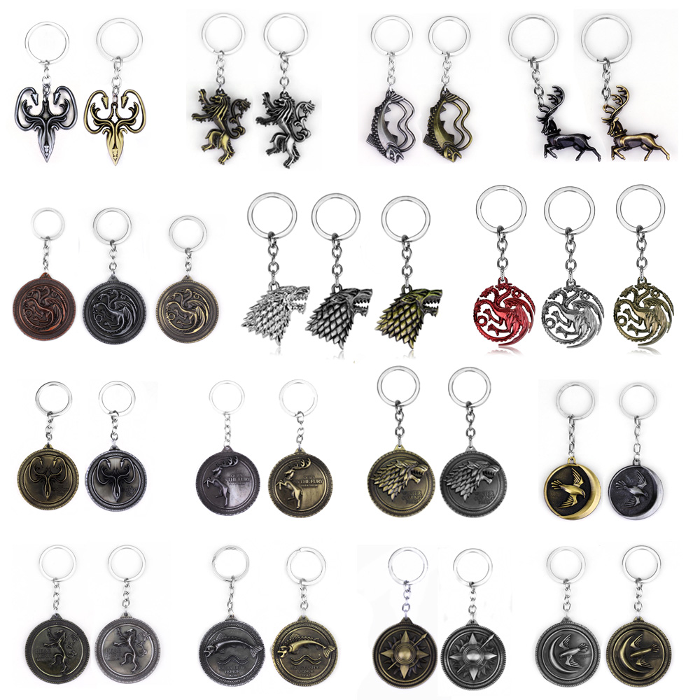 Hot sale new design reflective game anime keychain dragon