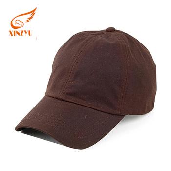 Waterproof Oil Cloth Wax Long Bill Baseball Cap Running Plaid Baseball Cap  Without Logo 1becbe8d5e2