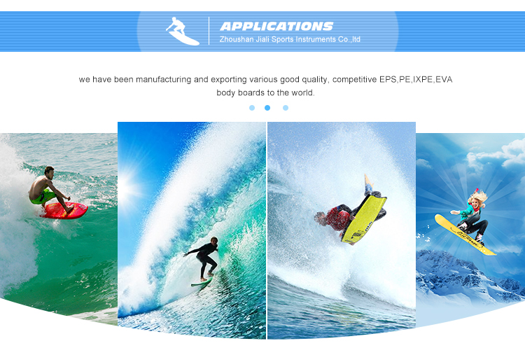 wholesale good quality customized design blue surfer body board