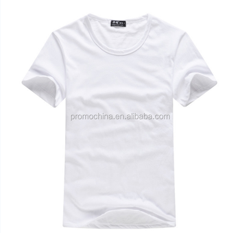 Shenzhen Wholesale Cheap Custom Tee Shirt White Cotton T Shirt Printing Logo Round Neck For Promotion