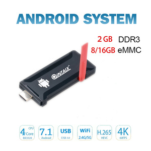 2018 New desigh QINTAIX R33 tv dongle 2GB fire stick android 7.1 mini PC Android TV dongle Media Player