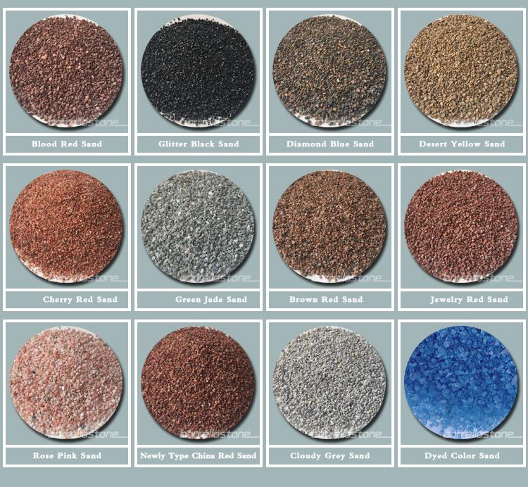 各種の色珪砂用販売