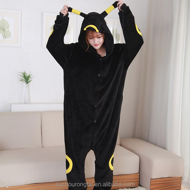 Automne hiver en gros animal costume flanelle sexy adulte umbreon onesie salopette flanelle pyjamas